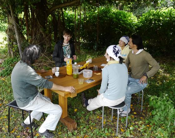 Teegarten Picknick bei Familie Watanabe
