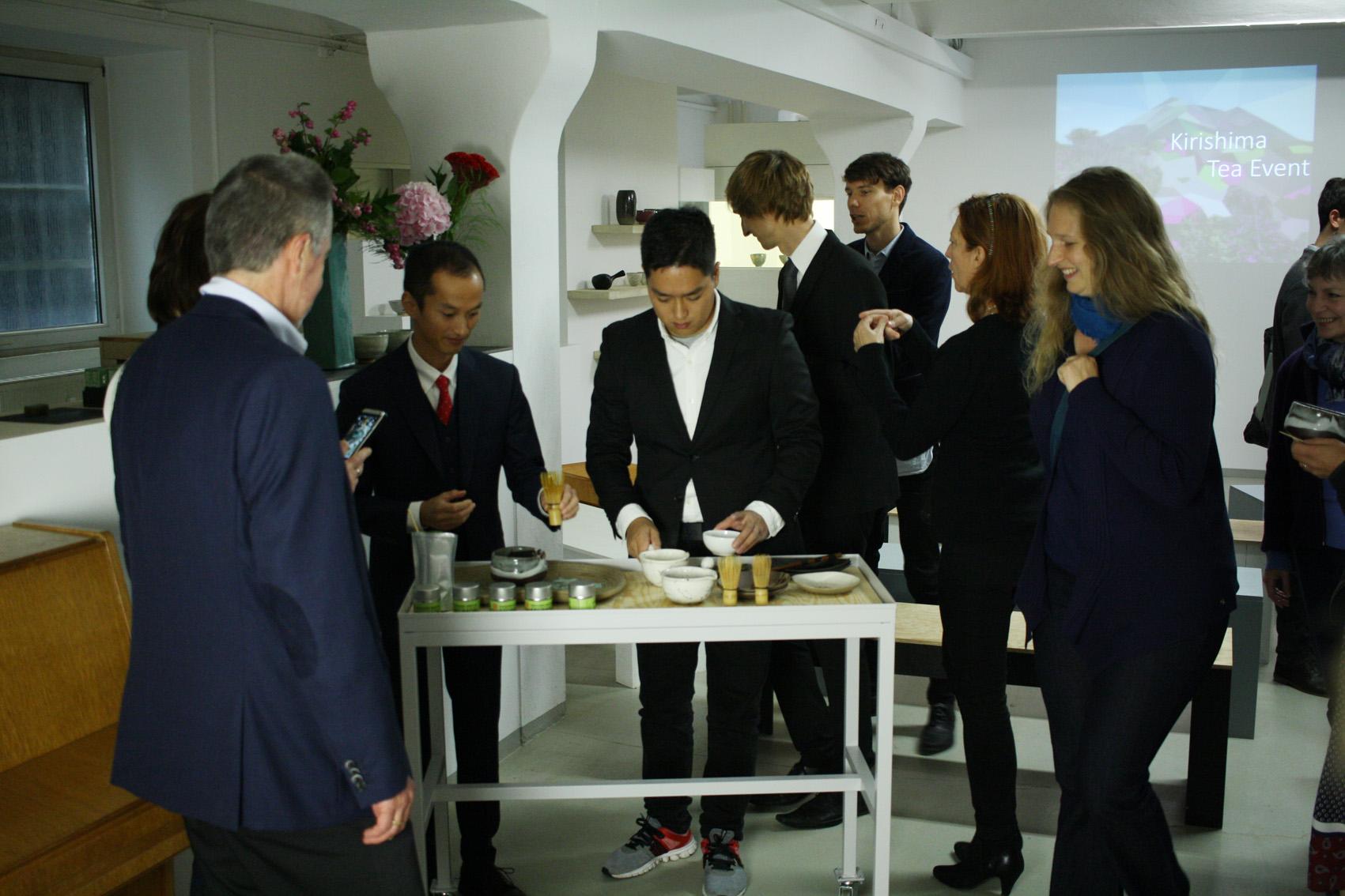 Shutaro and Kenji Hayashi greet our guests with Miumori Kirishima Matcha