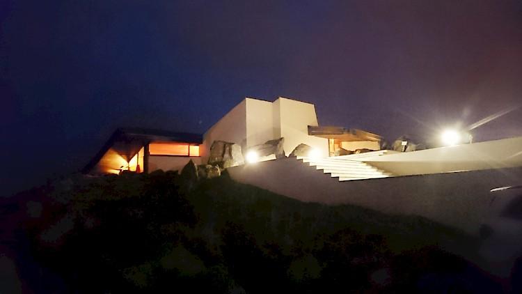 Casa de Cha by night, after the Morimoto Event
