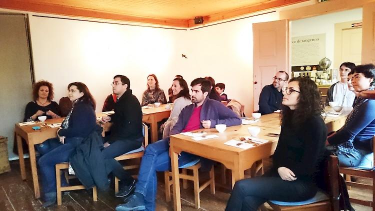 The guests of our Morimoto green tea seminar at Cor de Tangerina in Guimaraes