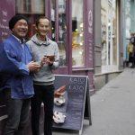 KATO Juunidai and Shutaro Hayashi during the exhibition in Paris
